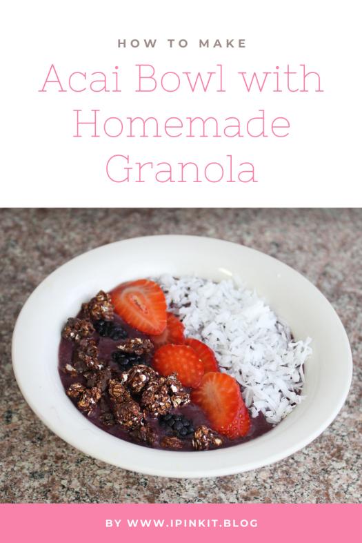 How to make acai bowl with nut free granola