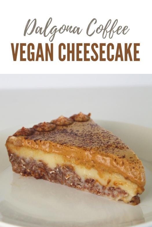 Dalgona Coffee Vegan Cheesecake